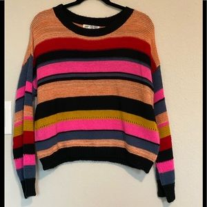 Jolt Colorful Striped Sweater